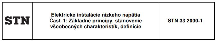 Elektrorevízie - Legislatívne normy - Omelka